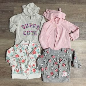 Bundle of (4) Baby Girl 3 month Sweaters